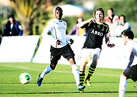 Fotball , 2. februar 2014 , Privatkamp , <br /> AIK - FC Astra 0-1<br /> Yoda Karim , Astra<br /> Nils-Eric Johansson , AIK