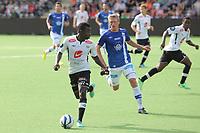 Fotball , 10. august 2013, Tippeligaen Eliteserien , Sogndal - Molde Malick Mane, Mahatma Otoo Sogndal. Per Egil Flo Molde<br /> <br /> Foto: Christian Blom , Digitalsport