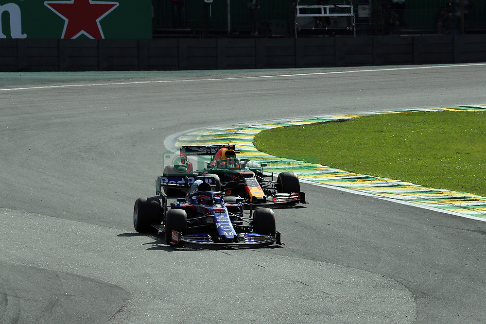 November 17, 2019, Sao Paulo, Brazil: xa9; Photo4 / LaPresse.17/11/2019 Sao Paulo, Brazil.Sport .Grand Prix Formula One Brazil 2019.In the pic: Daniil Kvyat (RUS) Scuderia Toro Rosso STR14, Alexander Albon (THA) Red Bull Racing RB15 (Credit Image: © Photo4/Lapresse via ZUMA Press)