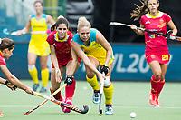 BRUSSEL - Kate Hanna (Aus.)    during AUSTRALIA v SPAIN , Fintro Hockey World League Semi-Final (women) . COPYRIGHT KOEN SUYK