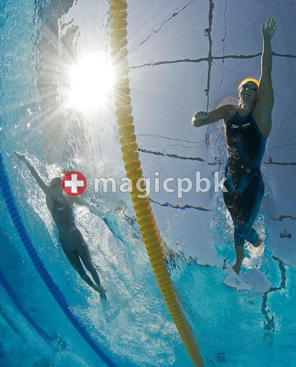 Lisbeth (Libby) TRICKETT (R) of Australia and Evelyn Verraszto of Hungary compete in the women's 100m freestyle heats at the 13th FINA World Championships at the Foro Italico complex in Rome, Italy, Thursday, July 30, 2009. (Photo by Patrick B. Kraemer / MAGICPBK)