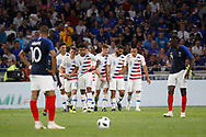 Goal USA 0-1 Weston Mckennie of USA and Wil Trapp of USA and Kylian Mbappe of France during the 2018 Friendly Game football match between France and USA on June 9, 2018 at Groupama stadium in Decines-Charpieu near Lyon, France - Photo Romain Biard / Isports / ProSportsImages / DPPI