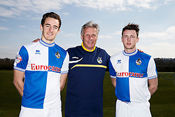 Bristol Rovers manager John Ward stands with Tom Lockyer and Ollie Clarke as the players sign new contracts with the club  - Photo mandatory by-line: Rogan Thomson/JMP - 07966 386802 - 17/03/2014 - SPORT - FOOTBALL - Friends Life Sports Ground, Bristol - Bristol Rovers Player Signing at the training ground.