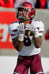 NORMAL, IL - October 13: D.J. Davis during a college football game between the ISU (Illinois State University) Redbirds and the Southern Illinois Salukis on October 13 2018 at Hancock Stadium in Normal, IL. (Photo by Alan Look)