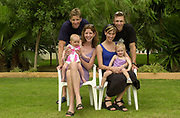 Seville, Andalusia, SPAIN<br /> <br /> 2002 World Rowing Championships - Seville <br /> - Spain <br /> <br /> Saturday  21/09/2002.<br /> <br /> AUS M2-. Bridget and James TOMKINS, daughter, Jessica. <br /> Drew and Melanie GINN and daughter Kyra <br /> <br /> Rio Guadalquiver Rowing course<br /> <br /> <br /> [Mandatory Credit:Peter SPURRIER/Intersport Images]