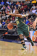 April 4, 2016; Indianapolis, Ind.; Keiahnna Engel directs the offense in the NCAA Division II Women's Basketball National Championship game at Bankers Life Fieldhouse between UAA and Lubbock Christian. The Seawolves lost to the Lady Chaps 78-73.