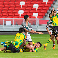National Stadium, Tuesday, August 26, 2014 — Pioneer Secondary clinched the National C Division Rugby (Plate) Championship with a 12–5 victory over St. Joseph's Institution (SJI).