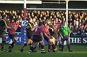Gloucester, Gloucestershire, UK., 04.01.2003, action from, the Zurich Premiership Rugby match, Gloucester vs London Wasps,  Kingsholm Stadium,  [Mandatory Credit: Peter Spurrier/Intersport Images],