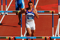 Olympic champion Roman Sebrlein CZE in action during Olympics Games Athletics day 12 on August 24, 2004 in Olympic Stadion Spyridon Louis, Athens.