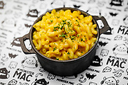 SHOT 6/5/19 3:46:45 PM - Monster Mac menu items including the Classic Mac and Cheese in a cast iron skillet. (Photo by Marc Piscotty / © 2019)