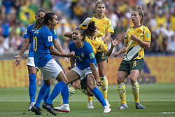 June 12, 2019 - Montpellier, França - MONTPELLIER, PL - 12.06.2019: BRAZIL VS AUSTRALIA - Marta do Brasil celebrates after scoring a goal (1-0) during a match between Australia and Brazil, valid for the 2019 FIFA Women's W Cup,Cup, held on Thursday, June 13, 2019, at Mosson Stadium, in Montpellier, France. (Credit Image: © Richard Callis/Fotoarena via ZUMA Press)