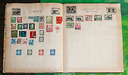 Old stamp album with used cancelled stamps From Germany and former German colonies in South West Africa
