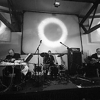 Jah Wobble, Jaki Liebezeit and Philip Jeck performing at Hive Twilight City in Static Gallery.