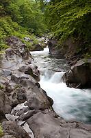 Ganmangafuchi Abyss a part of the Daiya River in Nikko.