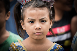 14 September 2018, Damak, Nepal: A girl in the Beldangi refugee camp in the Jhapa district of Nepal, which hosts more than 5,000 Bhutanese refugees.