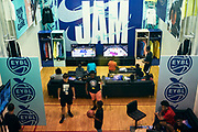 NORTH AUGUSTA, SC. July 10, 2019. The player experience room at Nike Peach Jam in North Augusta, SC. <br /> NOTE TO USER: Mandatory Copyright Notice: Photo by Royce Paris / Jon Lopez Creative / Nike