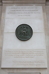 © Licensed to London News Pictures. 10/06/2015. London, UK. The new memorial at the Battle of Waterloo memorial unveling at Waterloo station in London. Photo credit : Vickie Flores/LNP