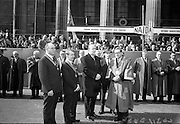 17/3/1966<br /> 3/17/1966<br /> 17 March 1966<br /> <br /> Mr. Sydney Gibson President of the Federation of Irish Industries; Mr. Sean O'Bradaigh Vice President of NAIDA; Dr. P.J. Hillery Minister for Industry and Commerce and Alderman Eugene Timmons Lord Mayor of Dublin
