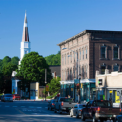 Downtown Springfield, Vermont.