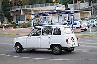 White Renault 4 car parked in Grasse France