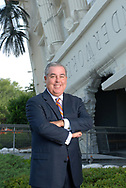 Attorney John Morgan poses outside the <br /> Wonderworks attraction, which he owns, in Orlando, Fla., June 8, 2006.(AP Photo/Phelan M. Ebenhack)