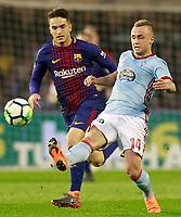RC Celta de Vigo's Stanislav Lobotka (r) and FC Barcelona's Denis Suarez during La Liga match. April 17,2018. (ALTERPHOTOS/Acero)