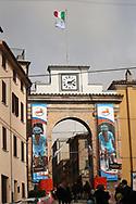 tribute michele scarponi during the UCI World Tour, Tirreno-Adriatico 2018, Stage 5, Castelraimondo to Filottrano, in Italy, on March 11, 2018 - Photo Laurent Lairys / ProSportsImages / DPPI