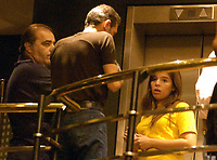 19/04/04 - DIEGO MARADONA WAS INTERNED AT HOSPITAL - Buenos Aires - Argentina. <br />The ex Argentinean football player was interned at hospital yestarday night.<br />Here DALMA MARADONA inside the clinic.<br />©Argenpress.com