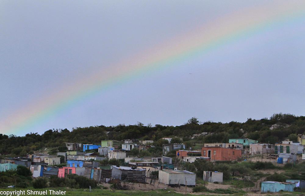 Rainbow over Khayelitcha Township,<br /> Cape Town, South Africa<br /> Photo by Shmuel Thaler <br /> shmuel_thaler@yahoo.com www.shmuelthaler.com