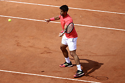 May 23, 2019 - Paris, France - Fernando Verdasco during a training session with Rafael Nadal in the preparations of Roland Garros finals in Paris, France, on 23 May 2019. (Credit Image: © Ibrahim Ezzat/NurPhoto via ZUMA Press)