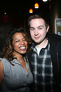 l to r: Danyel Smith and Brandon Fredericks at The Vibe Magazine VIP Celebration for Vibe's December cover featuring the first New York show of Plies, held at The Knitting Factory on November 24, 2008 in NYC