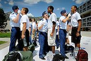 Inprocessing of new cadets on June 28, 2012, at the Air Force Academy in Colorado Springs, Colo.