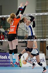 20180331 NED: Eredivisie Sliedrecht Sport - Regio Zwolle, Sliedrecht <br />Maureen van der Woude (8) of Regio Zwolle, Ana Rekar (11) of Sliedrecht Sport  <br />©2018-FotoHoogendoorn.nl / Pim Waslander