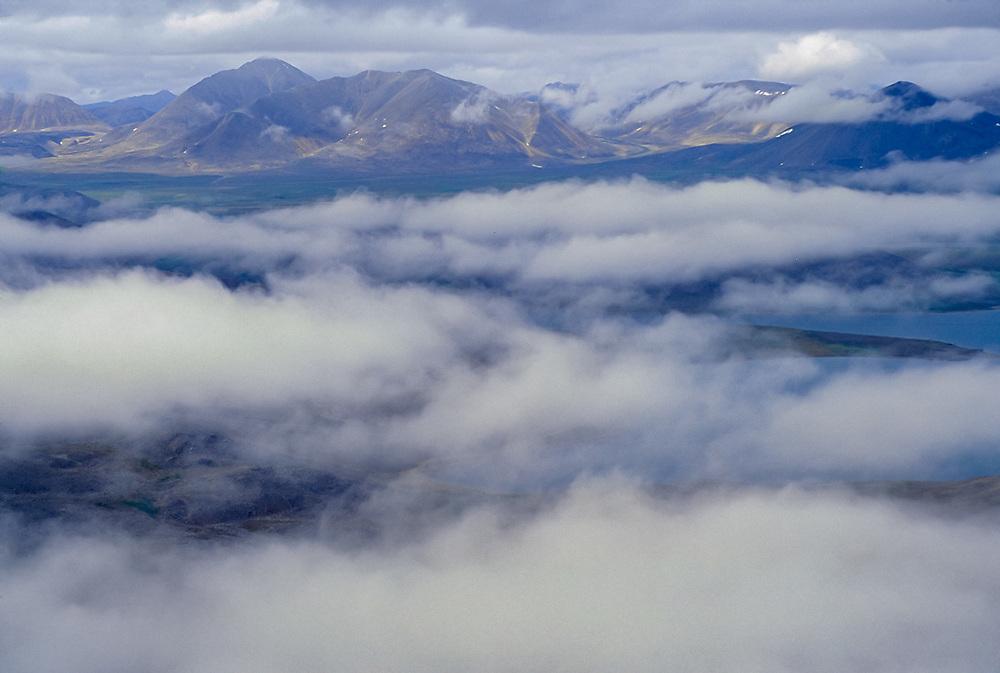 Aeria view, Bering Sea coastline, Chukotsk Peninssula, NE Russia, 1992