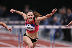 February 7, 2018 - Paris, Ile-de-France, France - Laura Valette of France competes in 60m Hurdles during the Athletics Indoor Meeting of Paris 2018, at AccorHotels Arena (Bercy) in Paris, France on February 7, 2018. (Credit Image: © Michel Stoupak/NurPhoto via ZUMA Press)