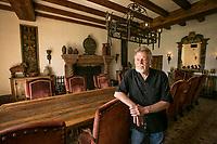 Developer Dean Kunicki in Hummingbird Nest Ranch's dining room in Simi Valley,  CA. May 28, 2014.  Photo by David Sprague
