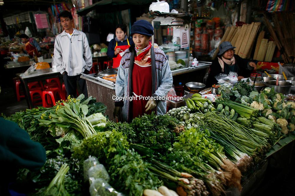vegetable market in Bangkok