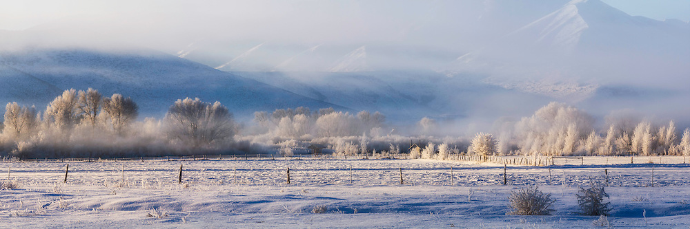 Winter views in the Heber Valley near the Provo River.