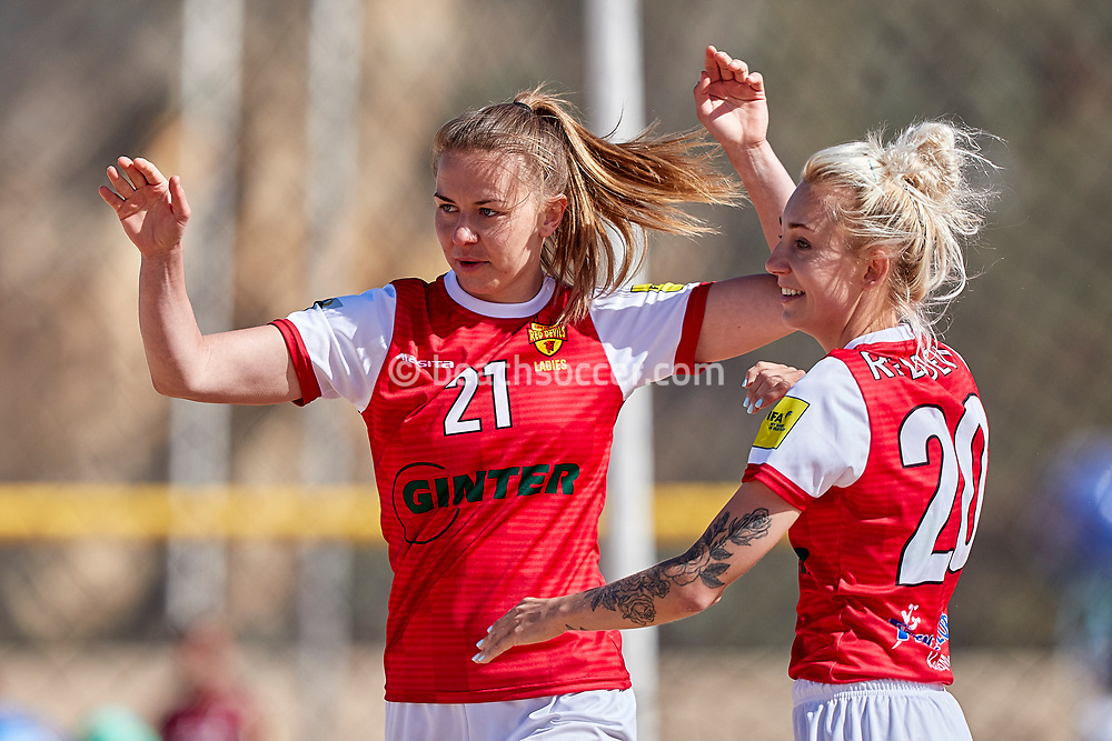 NAZARE, PORTUGAL - JUNE 7: Patricia Salwa of Red Devils Ladies and Marta Stasiulewicz of Red Devils Ladies during the Euro Winners Cup Nazaré 2019 at Nazaré Beach on June 7, 2019 in Nazaré, Portugal. (Photo by Jose M. Alvarez)