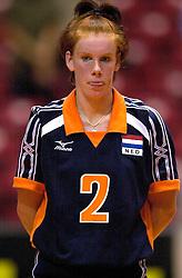 18-06-2000 JAP: OKT Volleybal 2000, Tokyo<br /> Nederland - China 3-0 / Jettie Fokkens