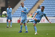 Coventry City striker (on loan from Portsmouth) Conor Chaplin (10) takes a shot at goal during the EFL Sky Bet League 1 match between Coventry City and Bristol Rovers at the Ricoh Arena, Coventry, England on 7 April 2019.