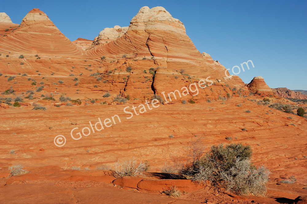 """Paria Canyon - Vermillion Cliffs Wilderness area in Southern Utah.<br /> <br /> Coyote Buttes North located in the Paria Canyon - Vermilion Cliffs Wilderness. This area features one of the most well-known geologic sandstone formations in the world, called The Wave""""."""