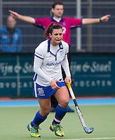 UTRECHT - Kampong speelster Julia Muller zondag tijdens de competitiewedstrijd tussen de vrouwen van Kampong en Den Bosch (0-1) FOTO KOEN SUYK