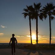 Surfer, Venice, California.