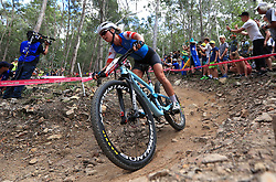 Canada's Emily Batty competes in the Women's Cross-country at the Nerang Mountain Bike Trails during day eight of the 2018 Commonwealth Games in the Gold Coast, Australia. PRESS ASSOCIATION Photo. Picture date: Thursday April 12, 2018. See PA story COMMONWEALTH Cycling Mountain Biking. Photo credit should read: Mike Egerton/PA Wire. RESTRICTIONS: Editorial use only. No commercial use. No video emulation.