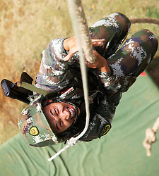 May 5, 2018 - Chongzuo, Chongzuo, China - Chongzuo, CHINA-5th May 2018: Soldiers attend the summer training in Chongzuo, southwest China's Guangxi. (Credit Image: © SIPA Asia via ZUMA Wire)