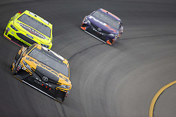 June 10, 2018 - Brooklyn, Michigan, United States of America - Erik Jones (20) races off turn one during the FireKeepers Casino 400 at Michigan International Speedway in Brooklyn, Michigan. (Credit Image: © Stephen A. Arce/ASP via ZUMA Wire)