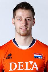 20150506 NED: Selectie Nederlands volleybal team mannen, Arnhem<br />Op Papendal werd het Nederlands team volleybal seizoen 2015-2016 gepresenteerd / Robbert Andringa<br />©2015-FotoHoogendoorn.nl / Pim Waslander