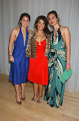 Left to right, NIKKI PENNIE, DANIELLA HELAYEL and MARIA KASTANI at party in aid of cancer charity Clic Sargent held at the Sanderson Hotel, Berners Street, London on 4th July 2005.<br />