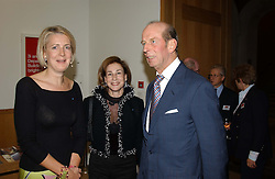 Left to right, MARIE CLAIRE AGNEW, DEBORAH BENNETT and HRH THE DUKE OF KENT  at the Depal Trust 2in1 Art Party at The National Portrait Gallery, London on 25th October 2004.<br /><br /><br /><br />NON EXCLUSIVE - WORLD RIGHTS